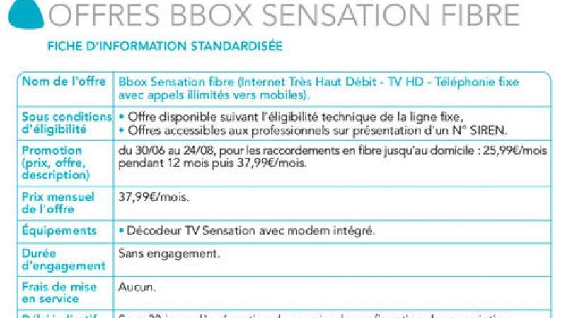 Bouygues Télécom dévoile par erreur une nouvelle offre Bbox fibre à 400 Mb/s