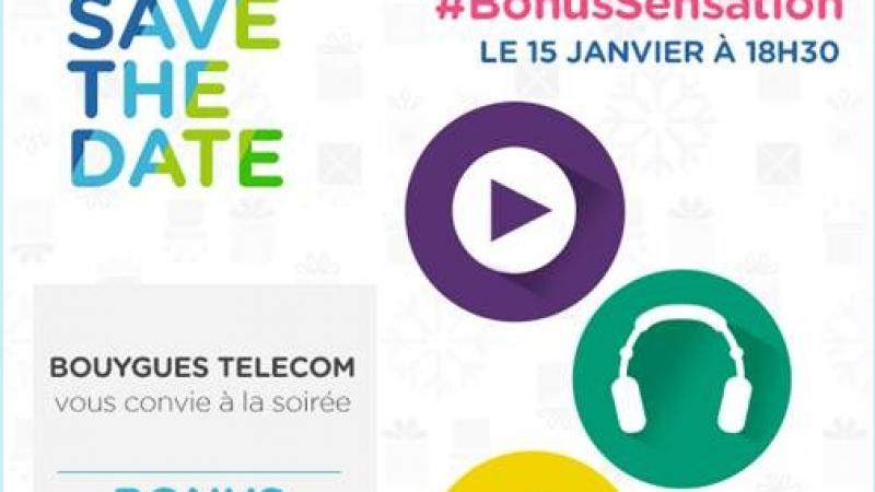 Bouyguyes Télécom dévoilera les #BonusSensation le 15 janvier prochain