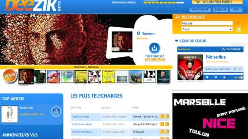 Lancement de Beezik, première offre de téléchargement légal et gratuit