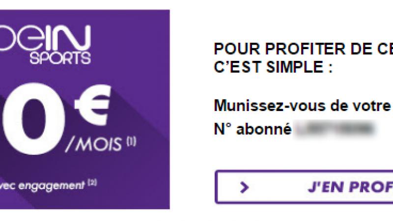 Canal+/Canalsat propose à ses abonnés une promotion sur beIN Sports