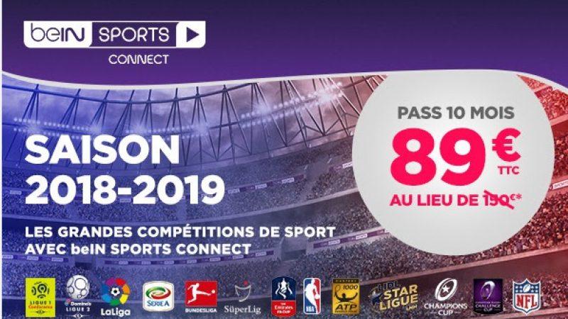 Pour la reprise de la Ligue 1, BeIN Sports lance une offre promo avec près de 50% de réduction