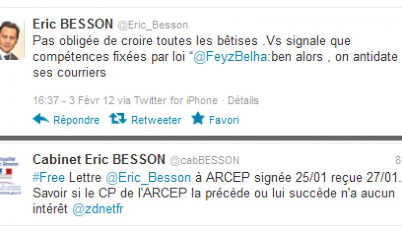 [MàJ] Réseau Free Mobile : Eric Besson a antidaté ses courriers pour devancer l'Arcep