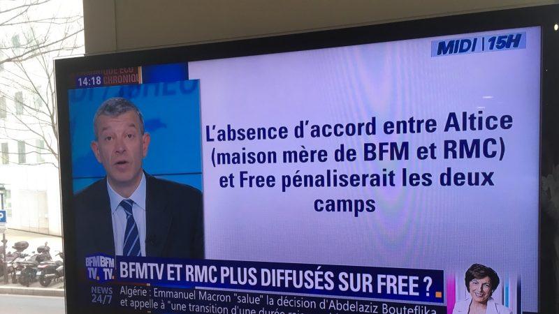 Selon les journalistes de BFM TV, l'arrêt de la chaîne chez Free pénaliserait les 2 camps