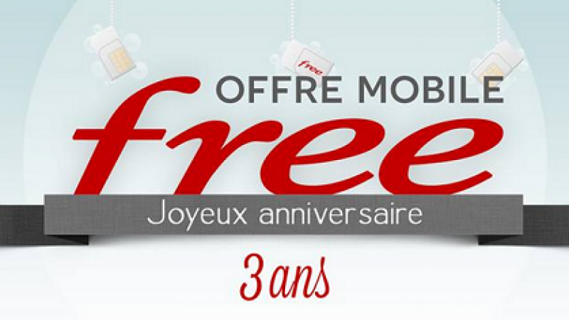 Free Mobile souffle sa troisième bougie