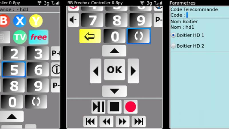 Freebox Controller : Une télécommande Freebox pour votre BlackBerry