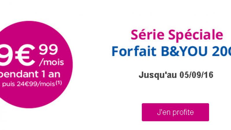 En plus de ses box, Bouygues Télécom lance une promo sur son forfait B&You 20Go