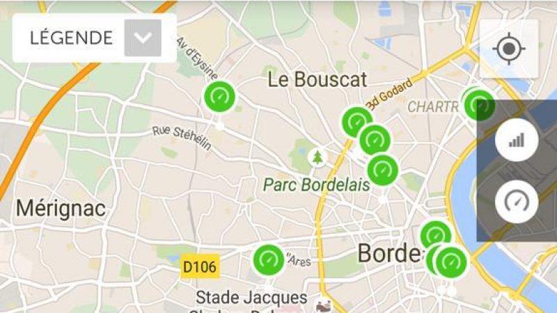 Clin d'oeil : quand la 4G de Free surpasse la 4G+ de Bouygues à Bordeaux