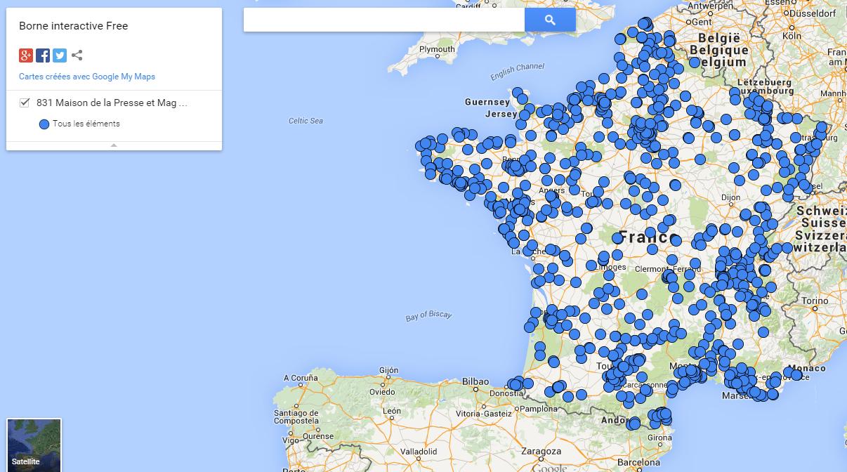 carte free borne interactive 831 bornes interactives Free Mobile dans les « Maison de la Presse