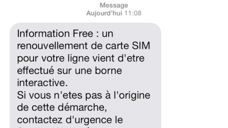 Free prévient désormais lors d'un renouvellement de carte SIM sur les bornes interactives