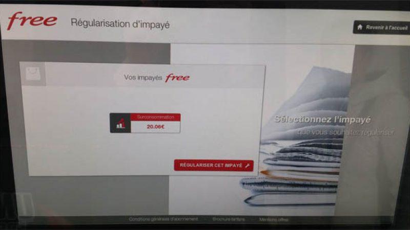 Bornes Free Mobile : il est maintenant possible de payer sa « surconsommation » et de debloquer son forfait