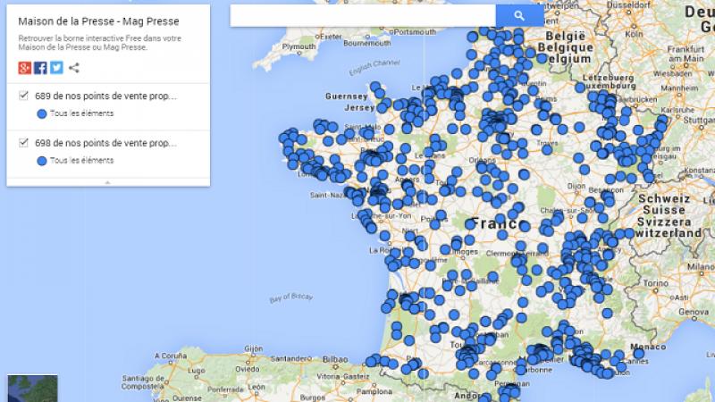 698 bornes Free Mobile installées sur l'ensemble du territoire