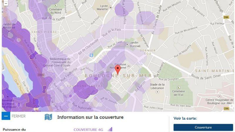 Couverture et débit 4G Free Mobile : Focus sur Boulogne sur Mer