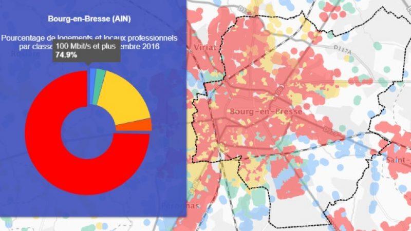 Découvrez les cartes du déploiement très haut débit de Bourg-en-Bresse