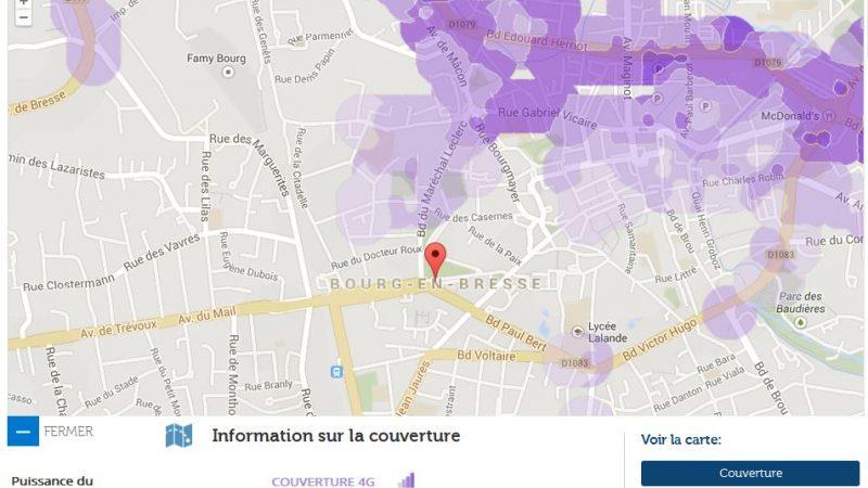 Couverture et débit 4G Free Mobile : Focus sur Bourg en Bresse