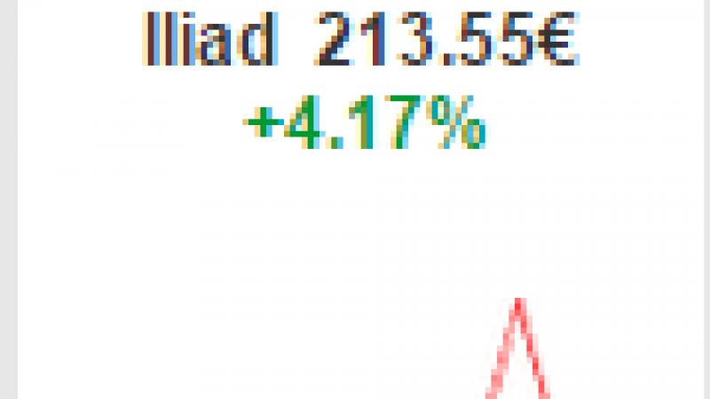 L'action d'Iliad en forte hausse après 5 baisses consécutives