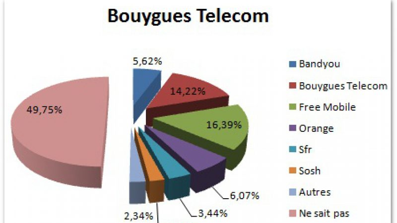Selon une étude, 16,39% des ex-clients Bouygues s'abonnent chez Free Mobile