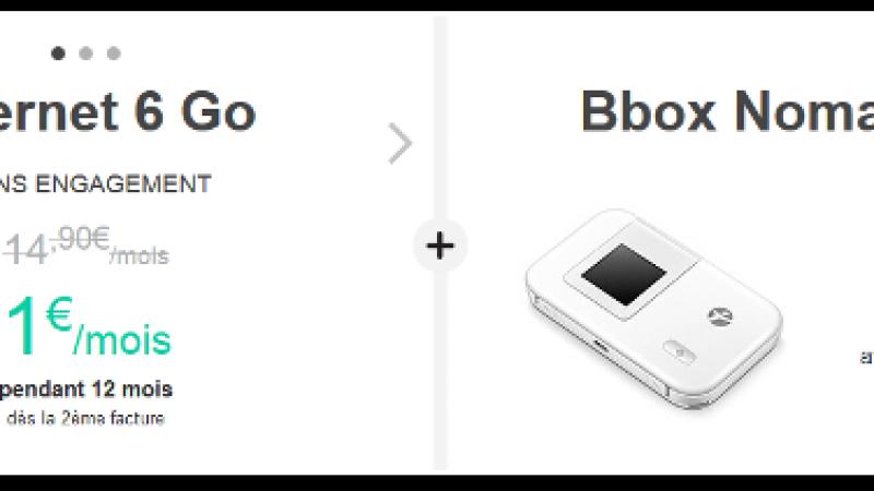 La « surprise » de Bouygues Télécom : un forfait Bbox Nomad 6Go à 1€/mois