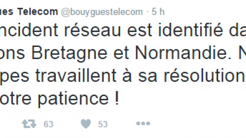 Un incident réseau impacte les abonnés de Bouygues Télécom