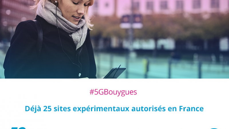 Bouygues Telecom annonce disposer du plus grand nombre de sites d'expérimentation de la 5G en France… devant Orange