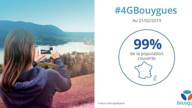 Bouygues Telecom annonce couvrir 99% de la population en 4G et fait jeu égal avec SFR