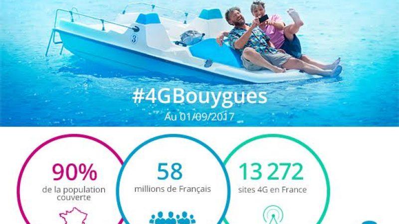 Bouygues Telecom annonce couvrir 90% de la population en 4G, moins qu'Orange mais plus que Free