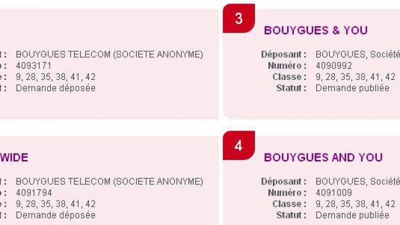 Bouygues & You, Bbox Wide… Bouygues dépose plusieurs marques à l'INPI