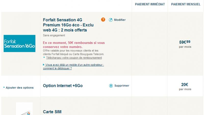 Bouygues Télécom : 21 Go de Fair Use pour 79,99 € par mois