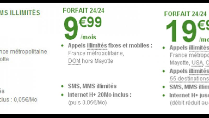 B&YOU lance un forfait 2h d'appels et SMS/MMS illimités à 3,99 euros par mois