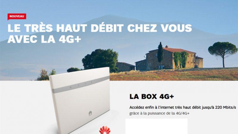 SFR lance une nouvelle offre avec une box 4G+ incluant la téléphonie