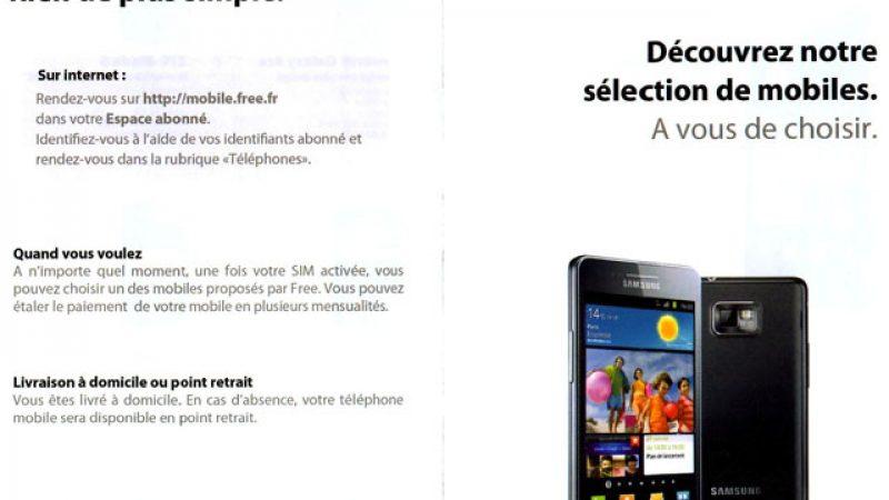Free Mobile envoie maintenant une brochure papier pour présenter ses téléphones