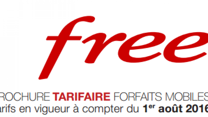 Free Mobile publie une nouvelle brochure tarifaire à compter du 1er Aout