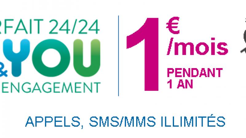 Bouygues Télécom propose un second forfait mobile à 1€/mois durant 1 an