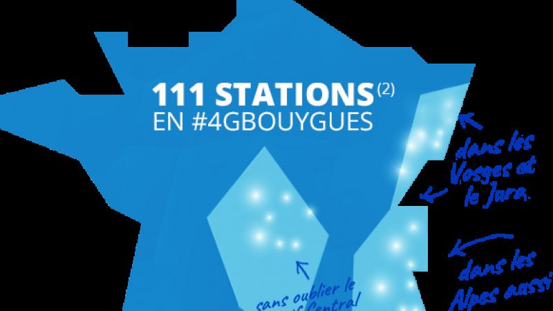 Bouygues annonce être N° 1 sur la couverture 4G des stations de ski, et vous propose de la tester gratuitement