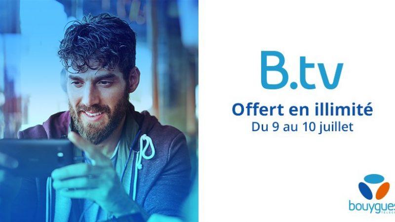 Bouygues Télécom offre l'accès illimité à Btv, son service TV mobile, durant ce week end