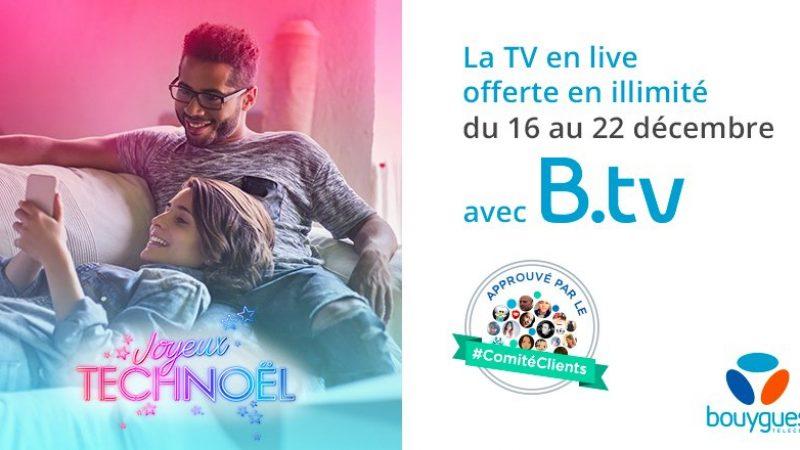 A l'occasion de Noël, Bouygues Télécom offre l'accès à son service TV mobile durant quelques jours