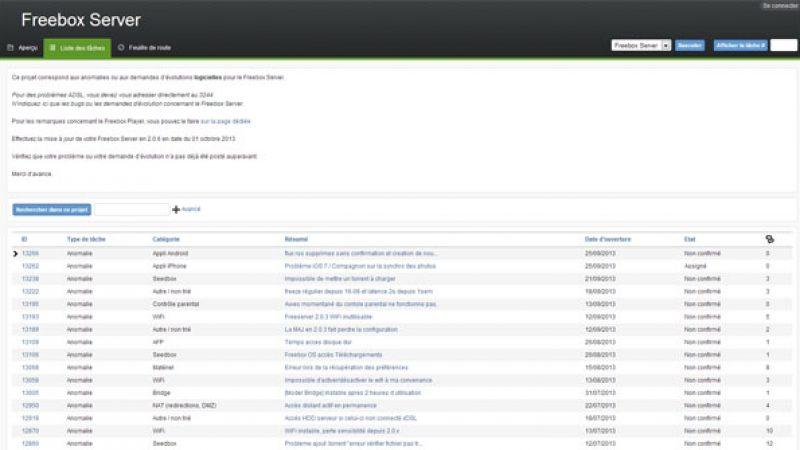 Free inaugure un tout nouveau bug tracker