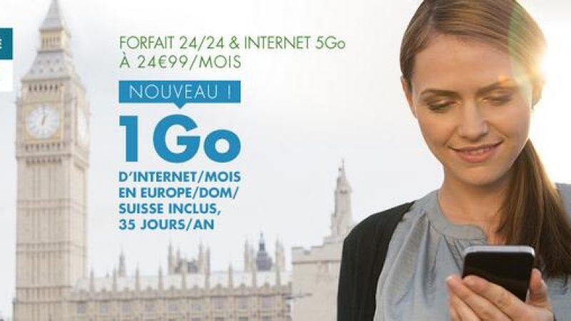 B&You : 1Go depuis l'Europe, les DOM et la Suisse inclus dans le Forfait 24/24 & Internet 5Go à 24,99€/mois