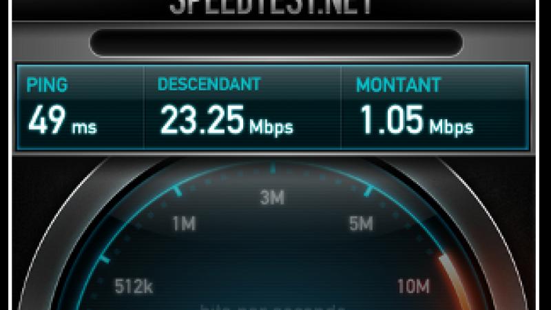 Avec 23 Mbit/s, B&You assure que « le débit H+ est bien au rendez vous »