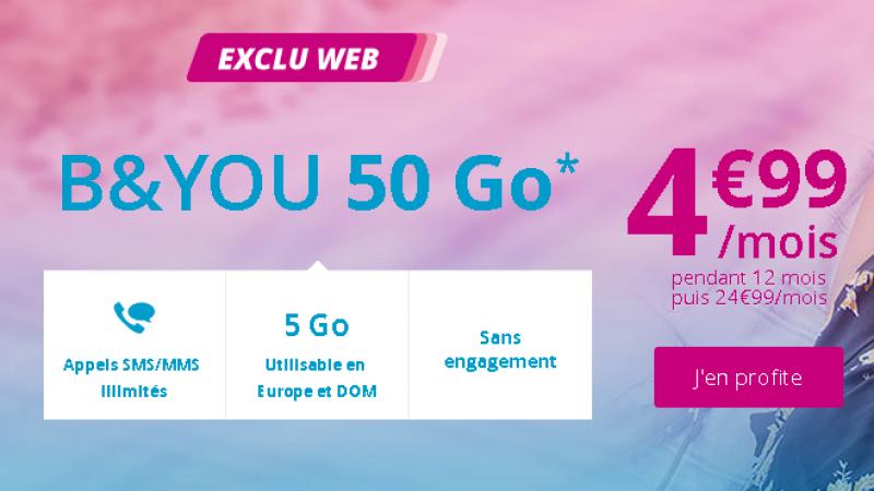 Bouygues Télécom réplique immédiatement à la Vente Privée Free Mobile à 4,99€, mais ne s'aligne pas sur le contenu