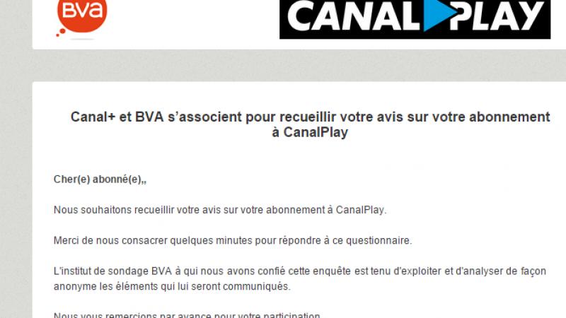Canal+ et BVA sondent les abonnées Freebox sur la nouvelle interface CanalPlay