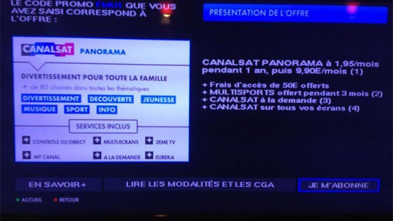 Free propose une offre Canalsat exceptionnelle à 1,95€/mois