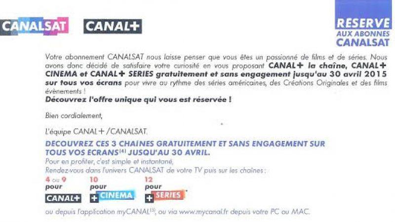 Canal+ offert pour 1 mois et nouvelle offre Cinéma-Série pour les abonnés Canalsat via Freebox