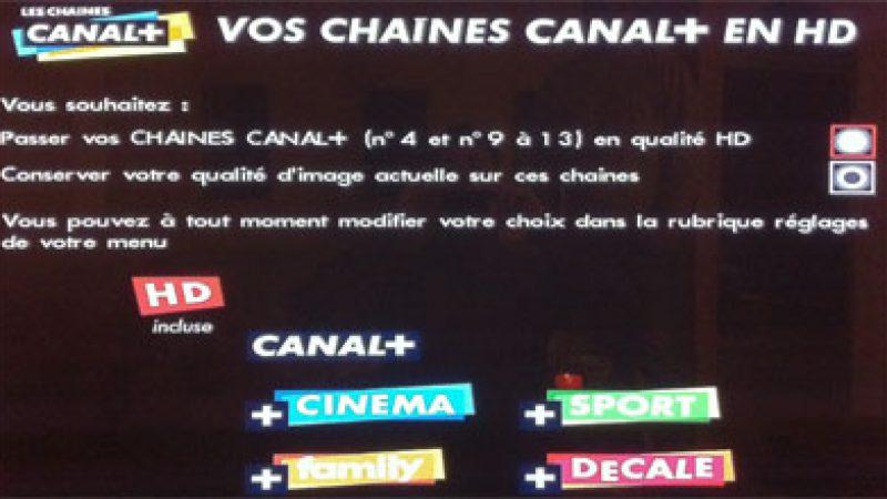 Nouveau : Remplacez les chaînes SD par la version HD dans l'univers Canal+/Canalsat via Free