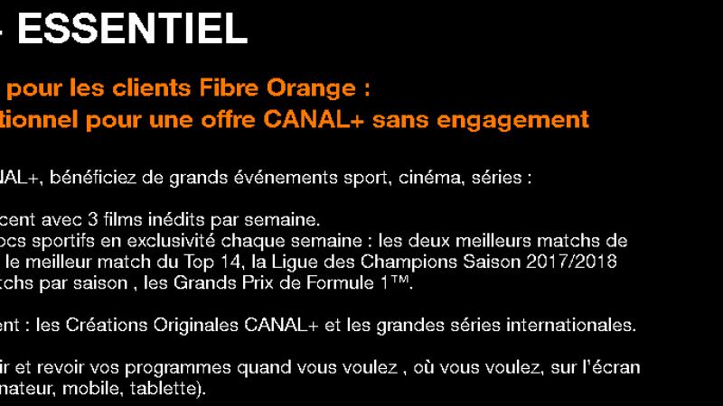 """Canal+ inaugure une nouvelle formule de commercialisation, en devenant une chaîne optionnelle """"ordinaire"""" chez Orange"""
