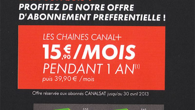 Canal+ gratuit chez Free jusqu'au 30 avril : uniquement pour les abonnés Canalsat