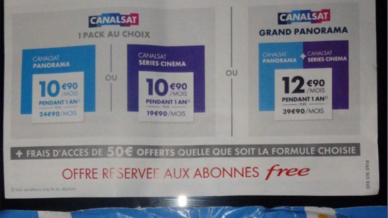 Canalsat envoie une lettre aux freenautes pour proposer une offre promotionnelle