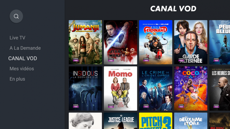 myCanal : Canal+ lance son service CANAL VOD sur Android et Android TV