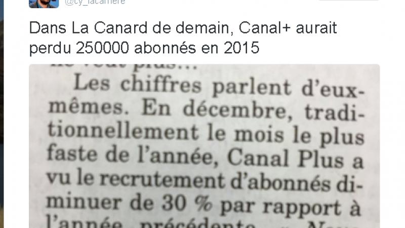 Canal+ aurait perdu 250 000 abonnés en 2015