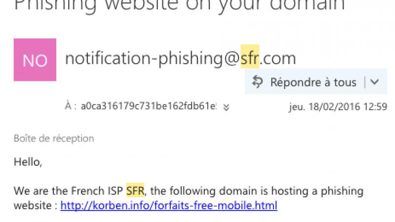 Quand SFR demande à Korben de supprimer une page qui parle de Free Mobile