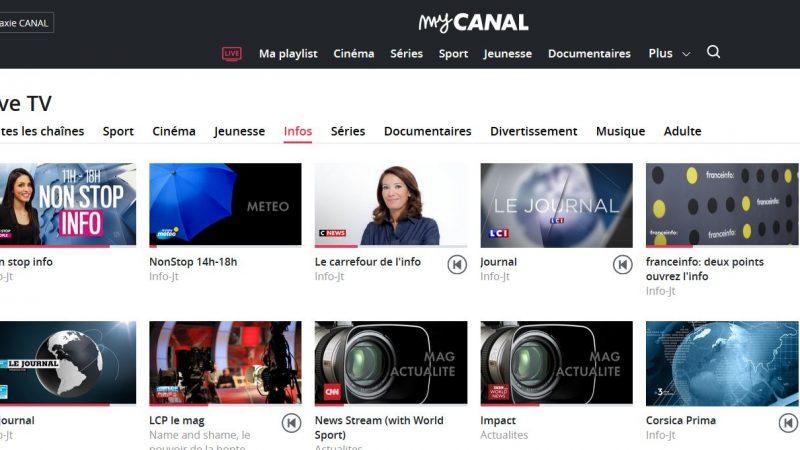 Les chaînes d'Altice/SFR ne sont plus accessibles via myCanal pour les abonnés Freebox avec TV by Canal